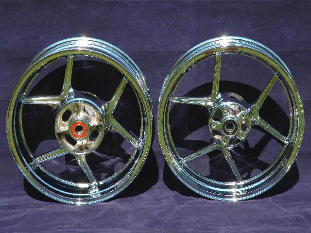 Kawasaki Chrome Wheels